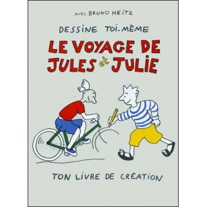 Book : Draw Yourself JULES & JULIE's TRAVEL