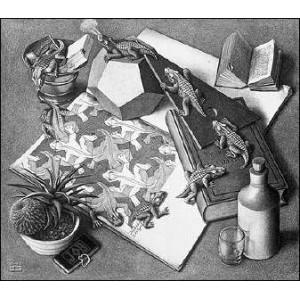 Stereoscope : ESCHER - REPTILES (1943)