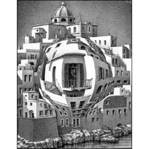 Stereoscope : ESCHER - BALCONY (1945)