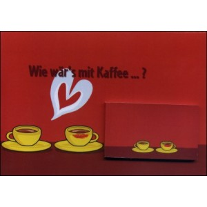 Flipbook - Greeting Card : COFFEE IN LOVE (Wie wär's mit Kaffee ... ?)
