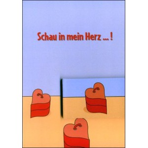 Flipbook - Greetings Card : LOOK IN MY HEART ! (Schau in mein Herz...!)
