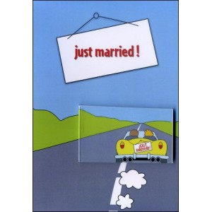 Flipbook - Greetings Card : JUST MARRIED !