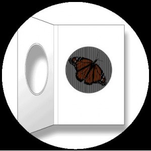 Postcard : THE MONARCH BUTTERFLY - A SmartMove Scanimation™ Card