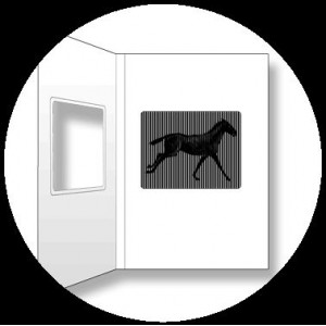 Postcard : THE GALLOPING HORSE - A SmartMove Scanimation™ Card