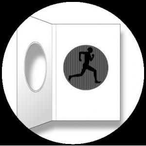Postcard : RUNNING MAN - A SmartMove Scanimation™ Card