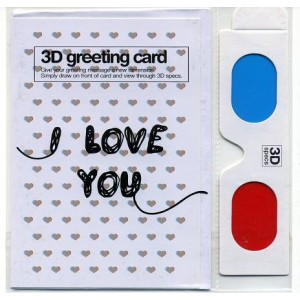 Postcard : HEART - 3D Greeting Card