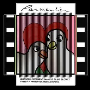 Postcard : LOVE PIGEONS (Les pigeons amoureux)