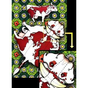 Postcard : THE COW WORLD MAP (La Vache-Monde)