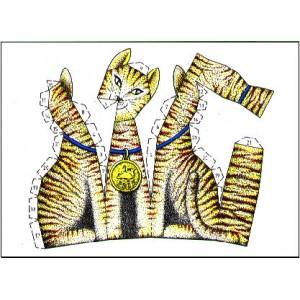 Postcard : THE CUTTING CAT (Le Chat à découper)