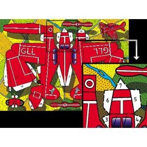 Postcard : THE RED PLANE (L'Avion Rouge)