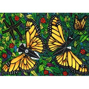 Postcard : THE CUTTING BUTTERFLY (Le Papillon à découper)