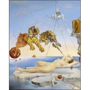 Stereoscope : DALI - DREAM CAUSED BY THE FLIGHT OF A BEE AROUND A POMEGRANATE A SECOND BEFORE WAKING UP