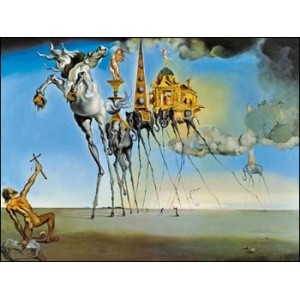 Stereoscope : DALI - THE TEMPTATION OF SAINT ANTHONY (1946)