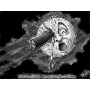Stéréoscope : LE VOYAGE DANS LA LUNE