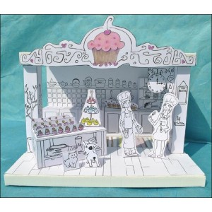 Toy : LITTLE PAPER THEATER - CUPCAKES WORKSHOP
