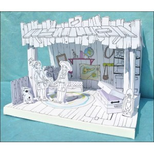 Toy : LITTLE PAPER THEATER - THE TREASURE CABIN