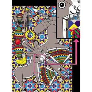 Postcard : THE CUTTING DONKEY (L'âne à découper)
