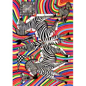 Postcard : THE CUTTING ZEBRA