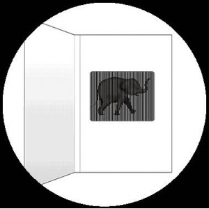 Postcard : THE ELEPHANT - A SmartMove Scanimation™ Card