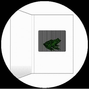 Postcard : THE FROG - A SmartMove Scanimation™ Card