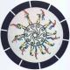 Jouet Optique : Le Phenakisticope - Un des 10 Disques sur son support