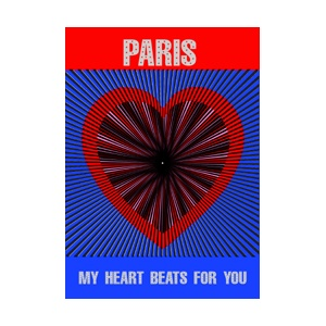 Postcard : MIRACLE CARD 16228 - PARIS MY HEART BEATS FOR YOU