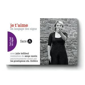 Flipbook : JE T'AIME / I LOVE YOU in sign language for deaf persons