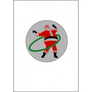 Postcard : DANCING SANTA CLAUS - A SmartMove Scanimation™ Card