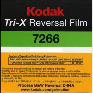 Super 8 : KODAK TRI-X REVERSAL FILM 7266