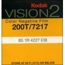 Super 8 : Chargeur KODAK VISION 2 - 200T / 7217