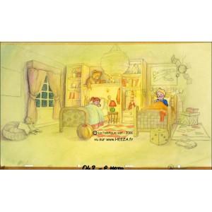 Cellulo : Le Père Noël et les enfants du désert - (Agnes and Jerome in their bed