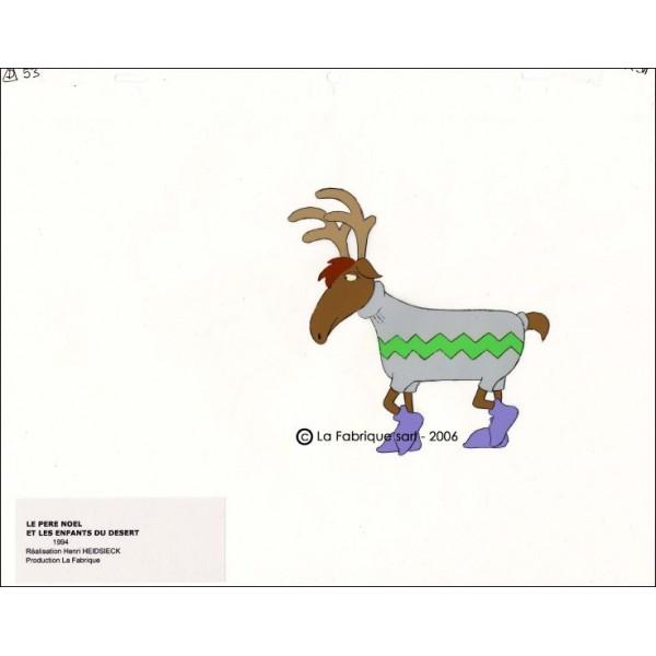 cellulo le pere noel et les enfants du desert un renne. Black Bedroom Furniture Sets. Home Design Ideas