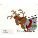 Cellulo : Le Père Noël et les enfants du désert - (Deux rennes)