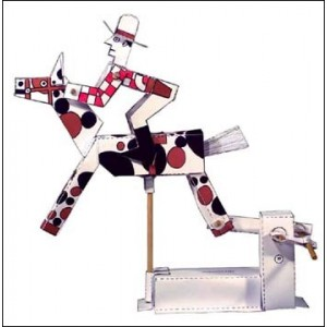Toy : Mechanical Galloping Cowboy / Jockey