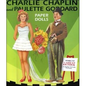 Book : CHARLIE CHAPLIN & PAULETTE GODDARD - Paper Dolls