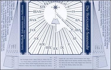 La carte postale cadran solaire