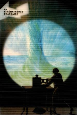 Un opérateur de lanterne magique - Carte postale lenticulaire