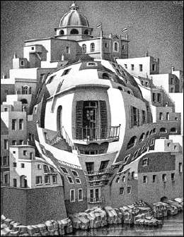 Balcony (1945) by ESCHER