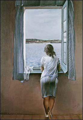Un visage à la fenêtre (1925) de Salvador DALI