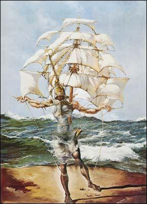 The Ship (1943) by Salvador DALI
