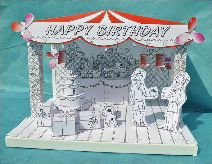 The Little Theater Happy Birthday assembled