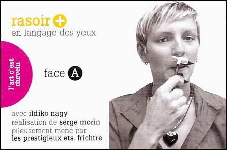 RASOIR / MAINS en langage des yeux - un flip-book de Serge MORIN (2012 / France) - Couverture Recto
