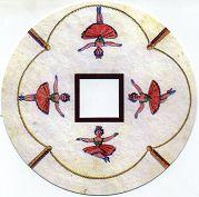 Danseuse sur la corde volante : disque de toupie FANTOCHES par Emile REYNAUD