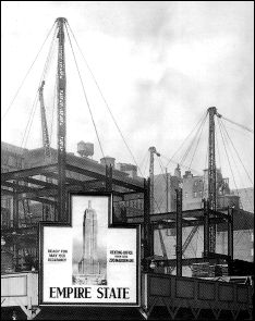 L'Empire State Building - Photographie de la construction