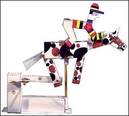 Galloping Jockey  - a paper automaton by Peter MARKEY