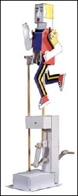 Woman runner - a paper automaton kit by Peter MARKEY (Wales)Y