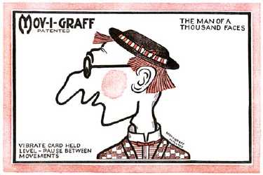 MOV-I-GRAFF - The Man of a Thousand Faces - Postcard