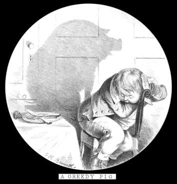 Le cochon par Charles Henry BENNETT