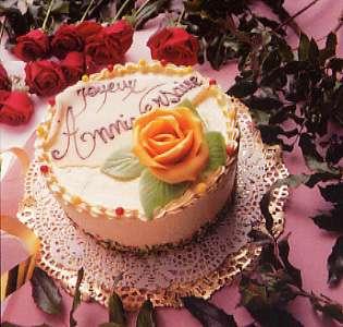 Un gâteau d'anniversaire - vue stéréoscopique