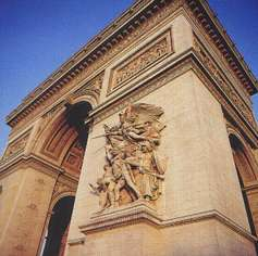 L'Arc de Triomphe - stereoscopic view